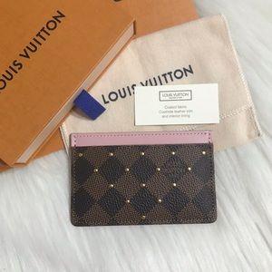 NWT! 2019 Louis Vuitton Rose Ballerine Card Holder